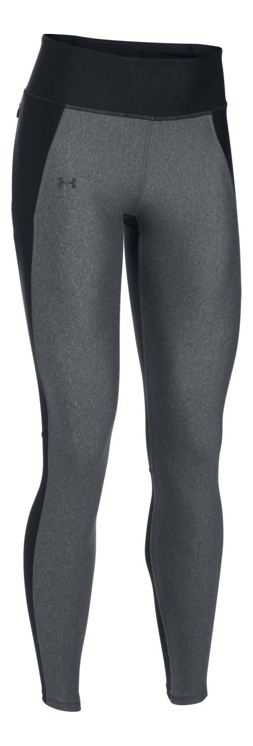 Womens Under Armour Fly By Tights & Leggings Pants - Black/Carbon Heather XS