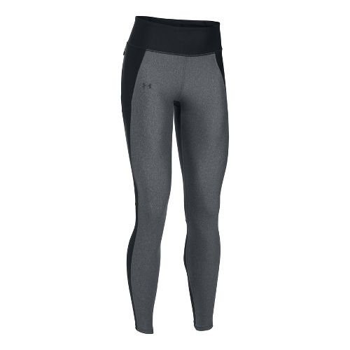 Womens Under Armour Fly By Tights & Leggings Pants - Black/Carbon Heather XL