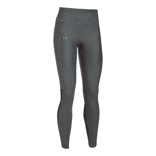 Womens Under Armour Fly By Tights & Leggings Pants - Carbon Heather XL