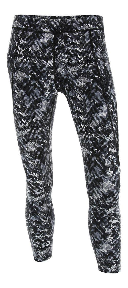 Womens 2XU Plyometric 7/8 Pro Tights & Leggings Pants - Black Alpine Print L