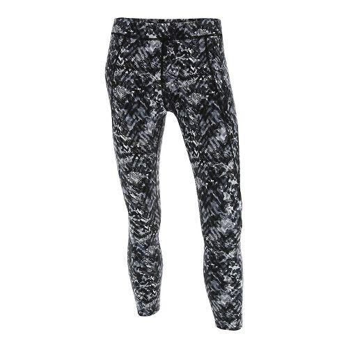 Womens 2XU Plyometric 7/8 Pro Tights & Leggings Pants - Black Alpine Print XL