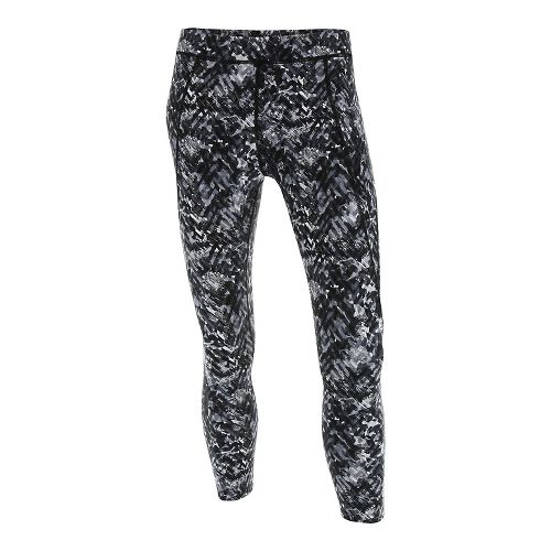 Womens 2XU Plyometric 7/8 Pro Tights & Leggings Pants - Black Alpine Print XS