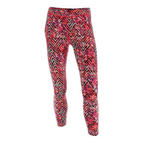 Womens 2XU Plyometric 7/8 Pro Tights & Leggings Pants - Pink Alpine Print S