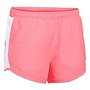 Womens Under Armour Fly By Perforated Run Lined Shorts