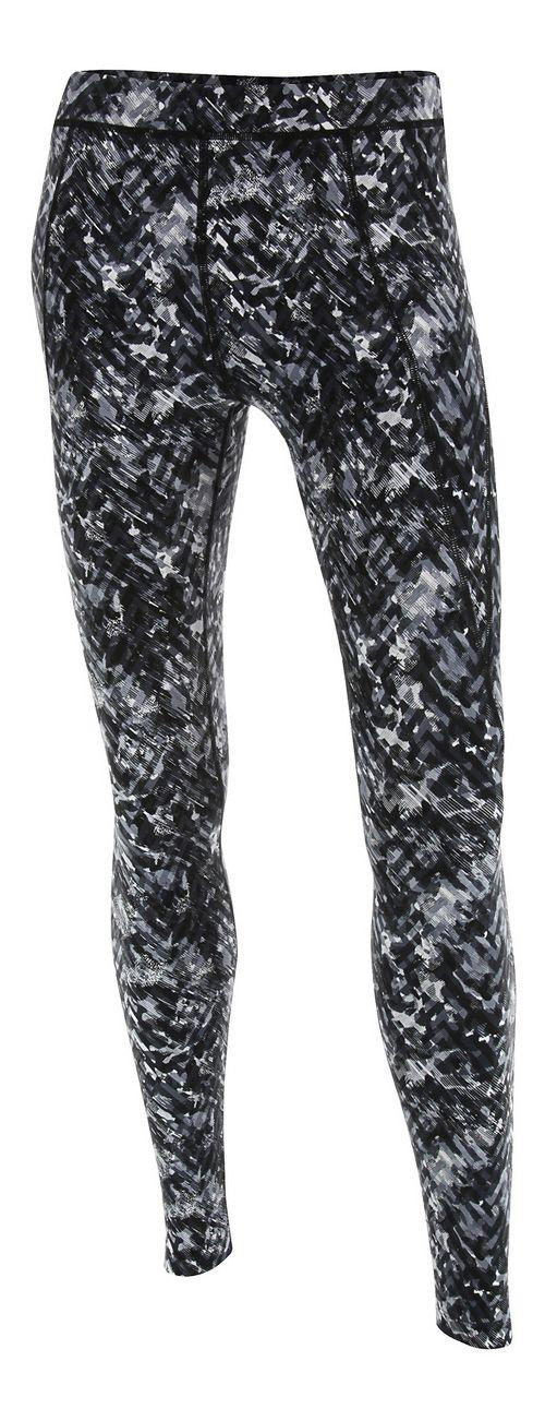 Womens 2XU Plyometric Pro Tights & Leggings Pants - Black Alpine Print XL