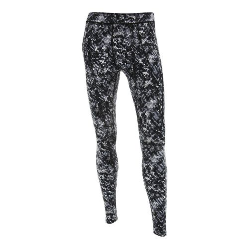Womens 2XU Plyometric Pro Tights & Leggings Pants - Black Alpine Print L