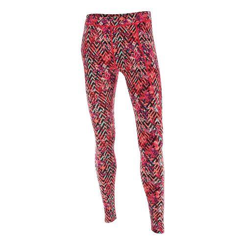 Womens 2XU Plyometric Pro Tights & Leggings Pants - Pink Alpine Print L