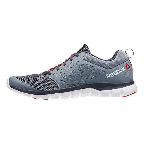Mens Reebok SubLite XT Cushion 2.0 MT Running Shoe - Black/Red 12