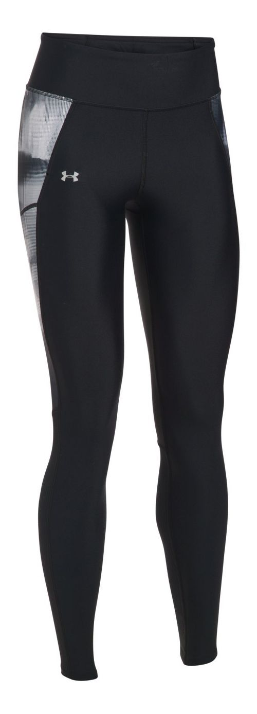 Womens Under Armour Fly By Printed Tights & Leggings Pants - Black L