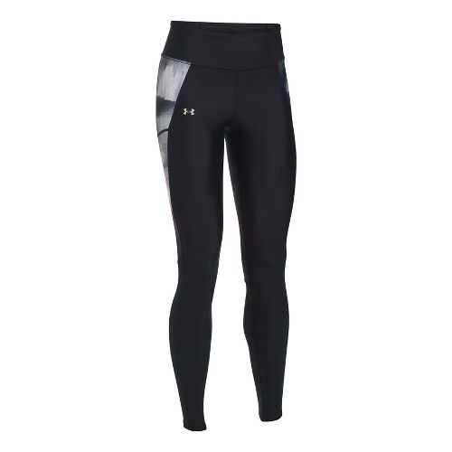 Womens Under Armour Fly By Printed Tights & Leggings Pants - Black XS
