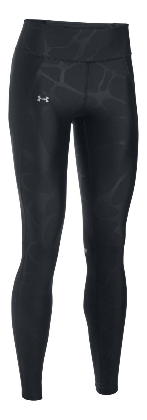 Womens Under Armour Fly By Printed Tights & Leggings Pants - Black/Grey XL