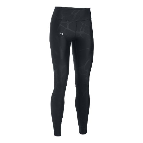 Womens Under Armour Fly By Printed Tights & Leggings Pants - Black/Grey XS