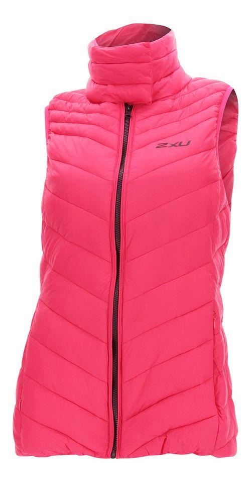 Womens 2XU Transit Vests Jackets - Pink/Burgundy XS