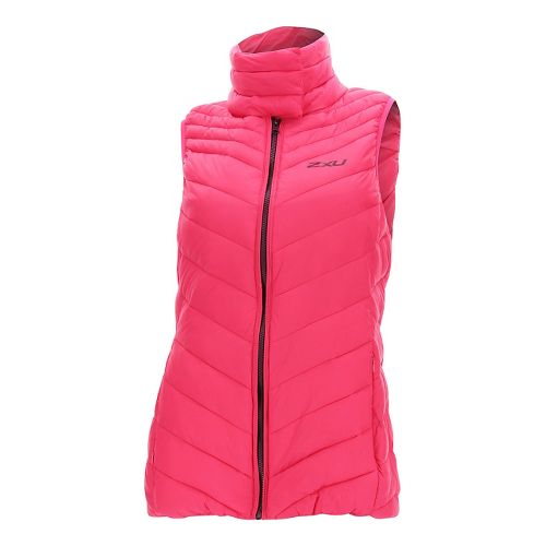 Womens 2XU Transit Vests Jackets - Pink/Burgundy M