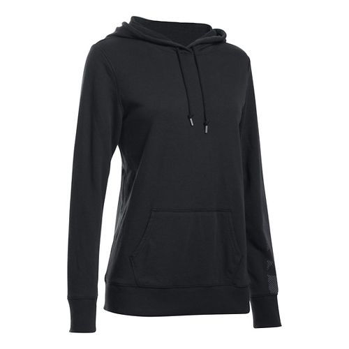 Womens Under Armour French Terry Hoodie & Sweatshirts Technical Tops - Black XS