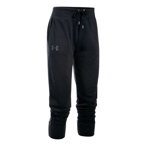 Womens Under Armour French Terry Jogger Pants - Black M