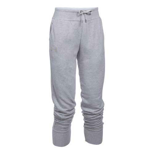 Womens Under Armour French Terry Jogger Pants - Grey Heather XS