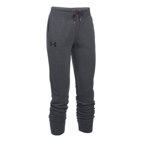 Womens Under Armour French Terry Jogger Pants - Carbon Heather L
