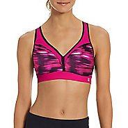 Womens Champion The Curvy Print Sports Bra - Pop Art Pink XS
