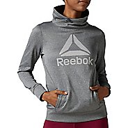 Womens Reebok Workout Ready OTH Half-Zips & Hoodies Technical Tops