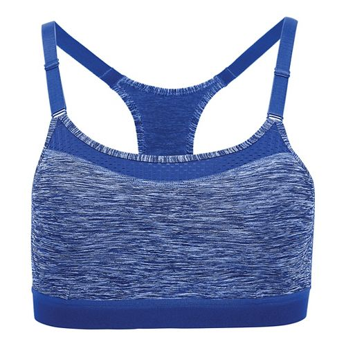 Womens Champion The Show Off Spacedye Sports Bra - Tonal Flight Blue S