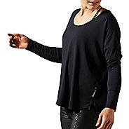 Womens Reebok Studio Lux Wool Blend Cover Up Long Sleeve Technical Tops