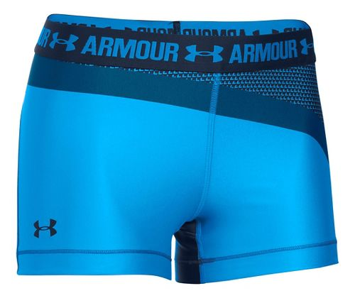 Womens Under Armour HeatGear Engineered Unlined Shorts - Water/Heron XS
