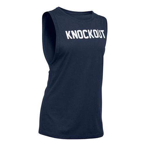 Womens Under Armour Knockout Muscle Sleeveless & Tank Technical Tops - Midnight Navy M