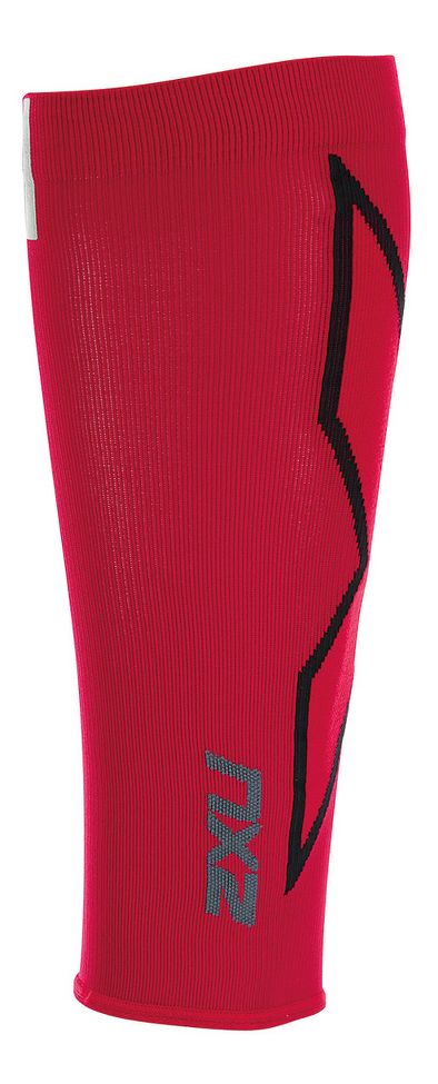 2XU® HYOPTIK Compression Calf Sleeves :: The 2XU® HYOPTIK Compression Calf Sleeves use a seamless construction to create the ultimate graduated sleeve for lower leg protection. Designed to encase the entire lower leg; calf to lower ankle, the sleeve applies the correct pressure to increase circulation while sedentary or support the calf, shin and Achilles when worn during activity. Added reflective logo's on the calf provides greater visibility and protection.   This web exclusive item ships separately within the continental U.S. only. You can count on this item to ship in 3-5 business days!