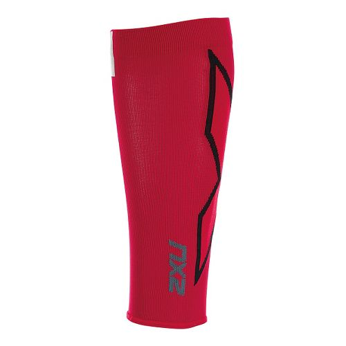 2XU HYOPTIK Compression Calf Sleeves Injury Recovery - Rio Red/Black XS