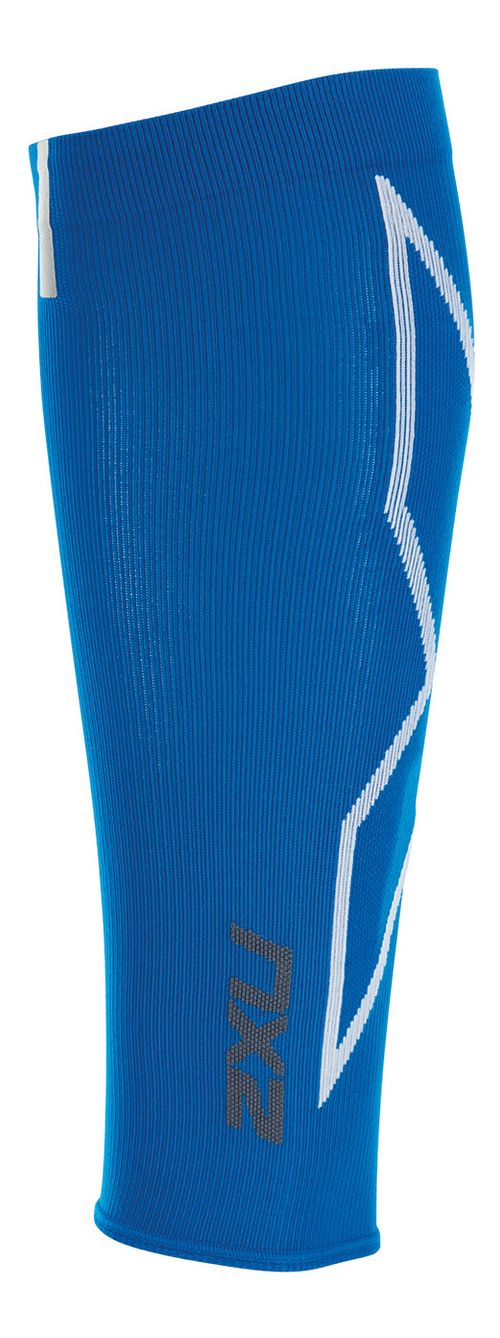 2XU HYOPTIK Compression Calf Sleeves Injury Recovery - Cobalt Blue/White XS