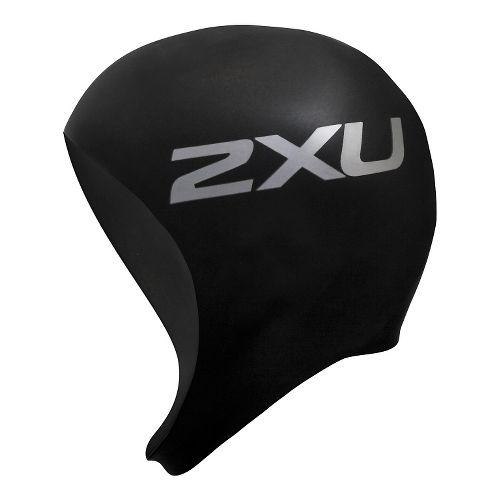 2XU Neoprene Swim Cap Headwear - Black/Black S/M