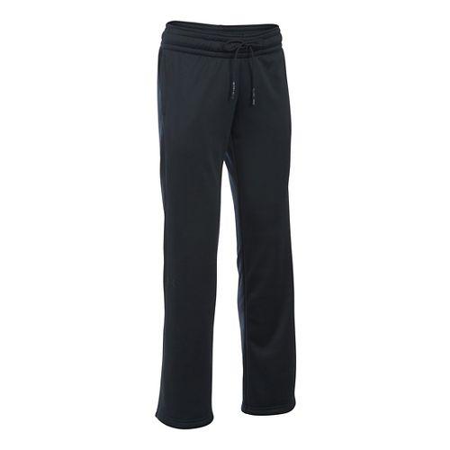 Womens Under Armour Lightweight Storm Fleece Pants - Black XSR