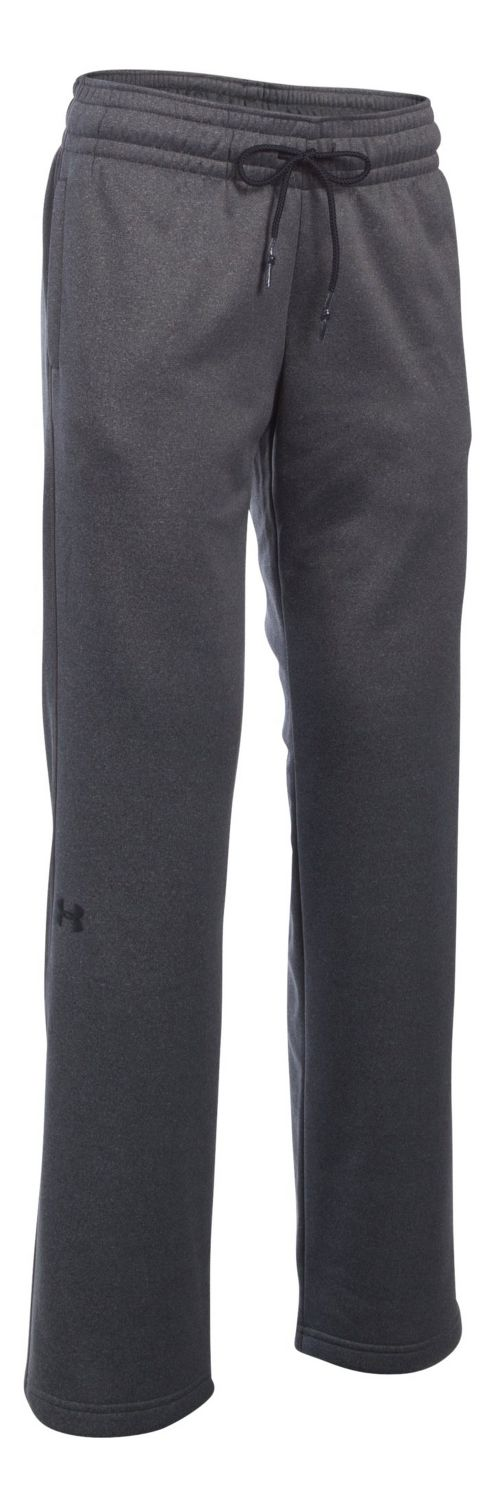Womens Under Armour Lightweight Storm Fleece Pants - Carbon Heather XXLR
