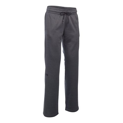 Womens Under Armour Lightweight Storm Fleece Pants - Carbon Heather LR