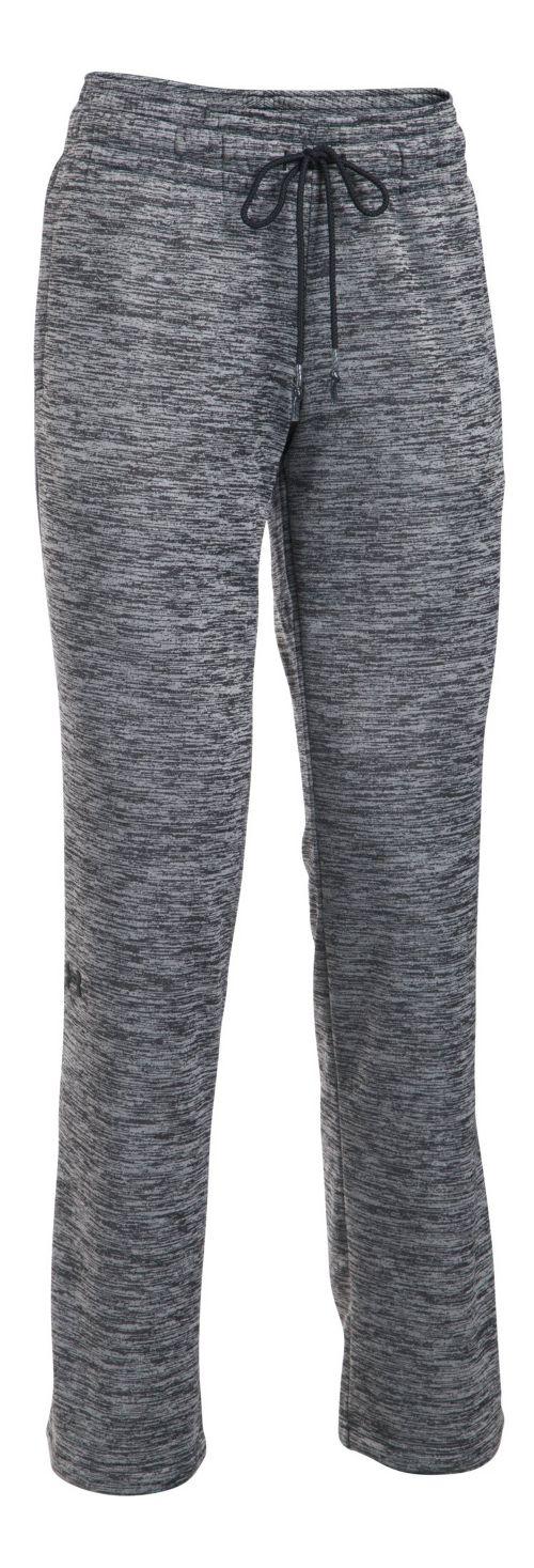 Womens Under Armour Lightweight Storm Fleece Twist Pants - Black XS-T