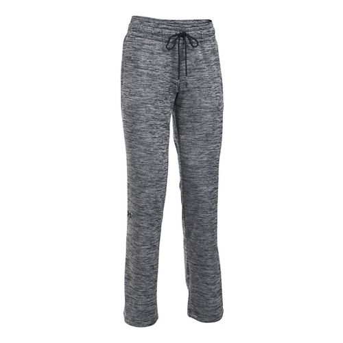 Womens Under Armour Lightweight Storm Fleece Twist Pants - Black XSR