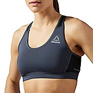 Womens Reebok Workout Ready Stacked Logo Mid Support Tops Bras