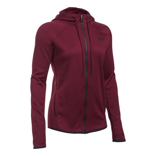Womens Under Armour Lightweight Storm Fleece Full-Zip Hoodie & Sweatshirts Technical Tops - ...