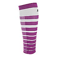2XU Striped Run Compression Calf Sleeves Injury Recovery