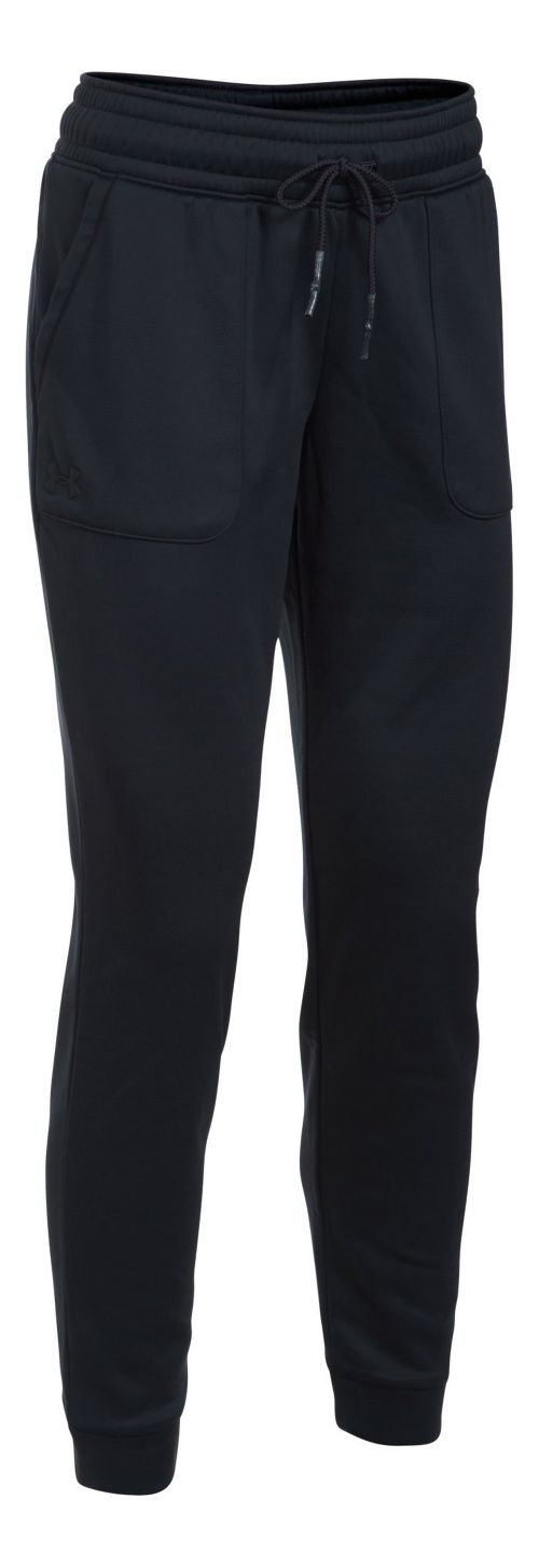 Womens Under Armour Lightweight Storm Fleece Jogger Pants - Black XL