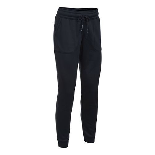Womens Under Armour Lightweight Storm Fleece Jogger Pants - Black XS