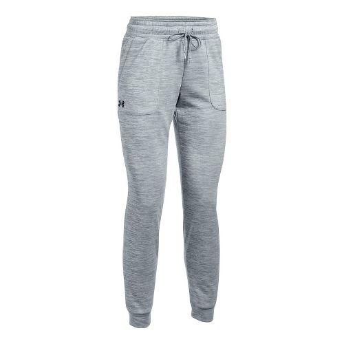 Womens Under Armour Lightweight Storm Fleece Jogger Pants - Steel XL