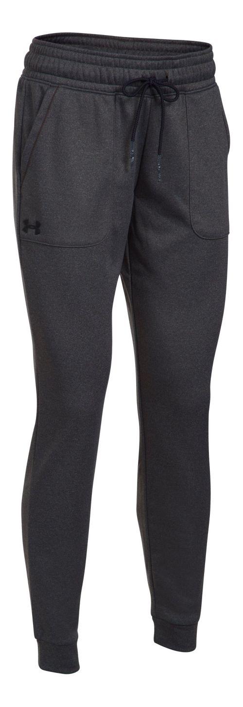 Womens Under Armour Lightweight Storm Fleece Jogger Pants - Carbon Heather XS