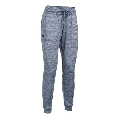 Womens Under Armour Lightweight Storm Fleece Jogger Twist Pants - Faded Ink XS