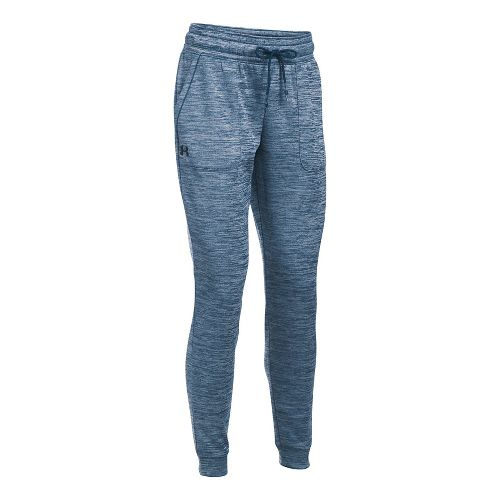 Womens Under Armour Lightweight Storm Armour Fleece Jogger Twist Pants - Blackout Navy M