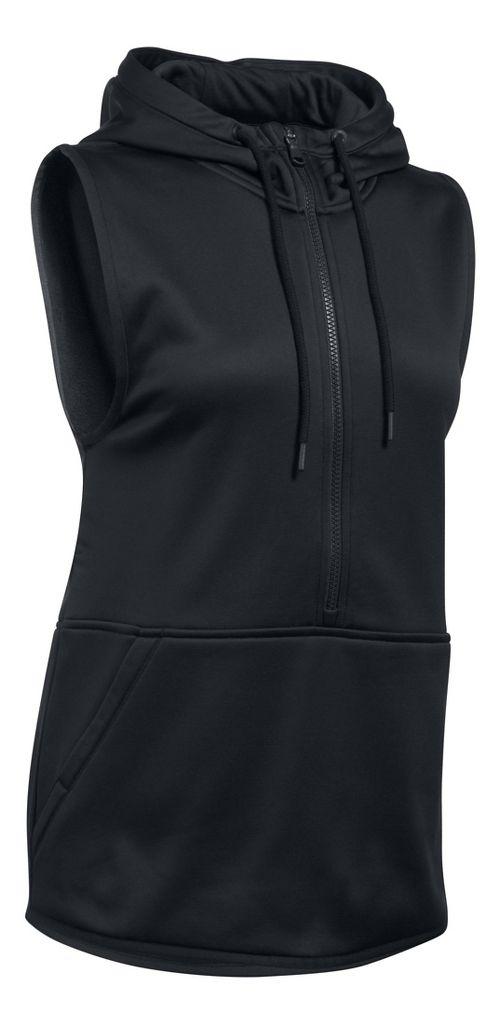 Womens Under Armour Lightweight Storm Fleece Vest Sleeveless & Tank Tops Technical Tops - Black M