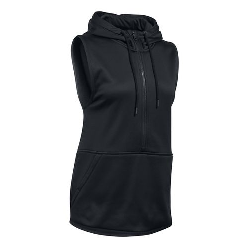 Womens Under Armour Lightweight Storm Fleece Vest Sleeveless & Tank Tops Technical Tops - Black ...