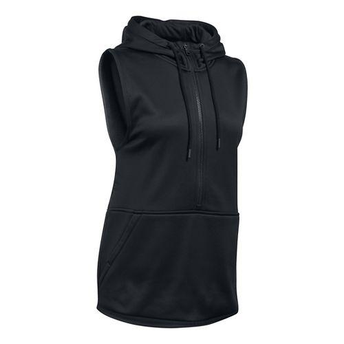 Womens Under Armour Lightweight Storm Fleece Vest Sleeveless & Tank Tops Technical Tops - Black ...