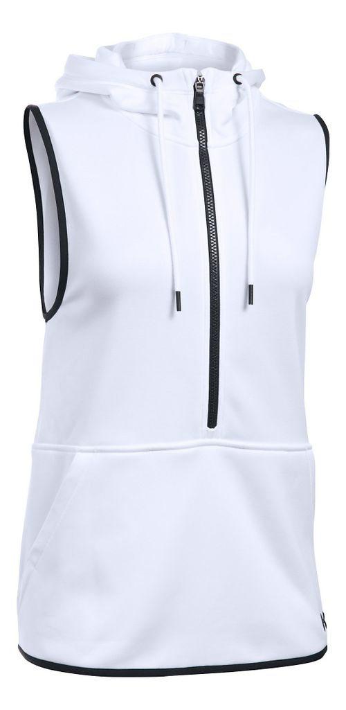 Womens Under Armour Lightweight Storm Fleece Vest Sleeveless & Tank Tops Technical Tops - White ...